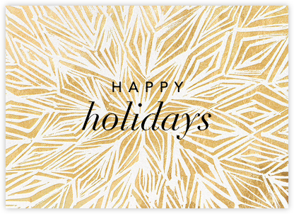 Stellar (Greeting) - Gold - Kelly Wearstler - Holiday Cards