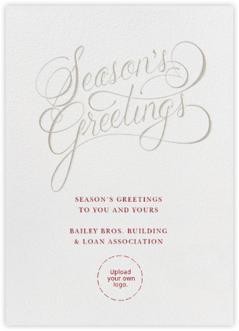 Season's Greetings Script - Paperless Post - Use your own logo