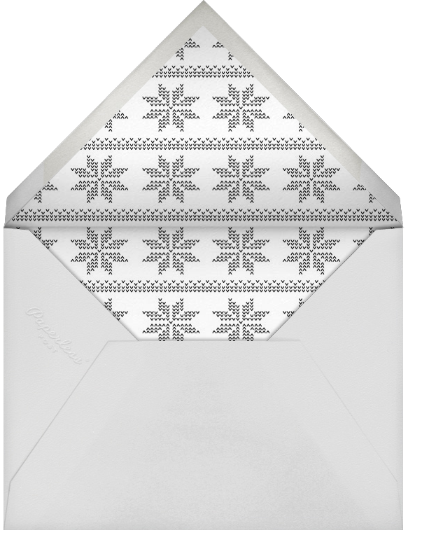 Snowlines - Red - Paperless Post - Use your own logo - envelope back