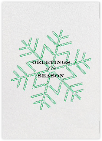 Snowlines - Green - Paperless Post - Use your own logo