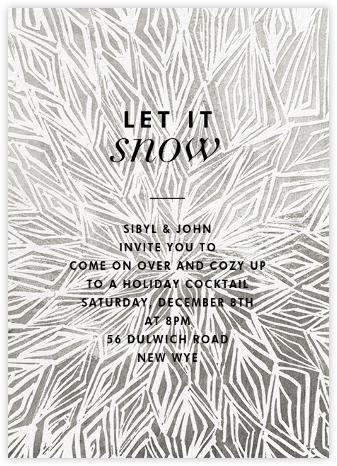 Stellar (Invitation) - Silver - Kelly Wearstler - Holiday invitations