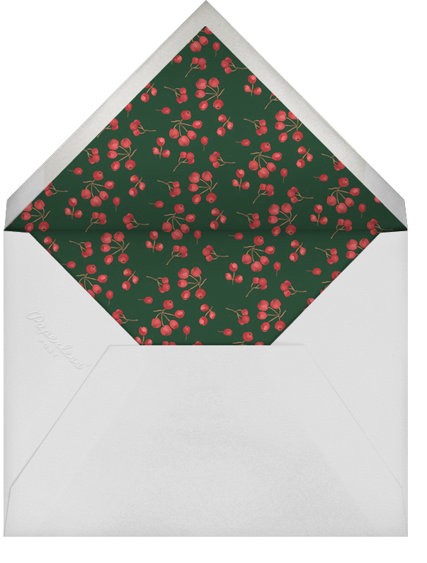 Holly Branch Holiday - Paperless Post - Use your own logo - envelope back