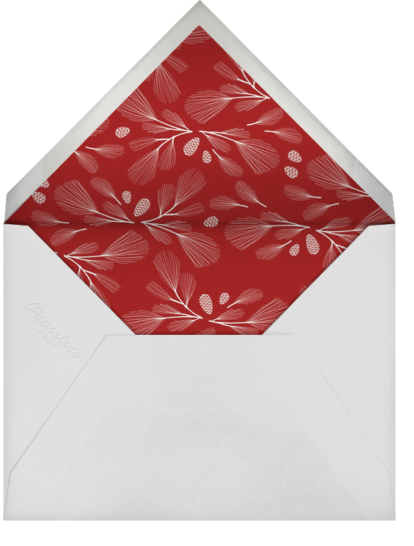 Crimson - Paperless Post - Use your own logo - envelope back