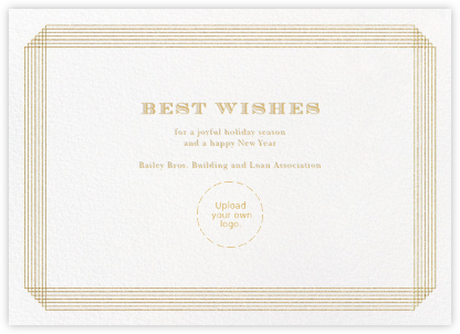 Escalier (Greeting) - Ivory and Gold - Paperless Post - Business Party Invitations
