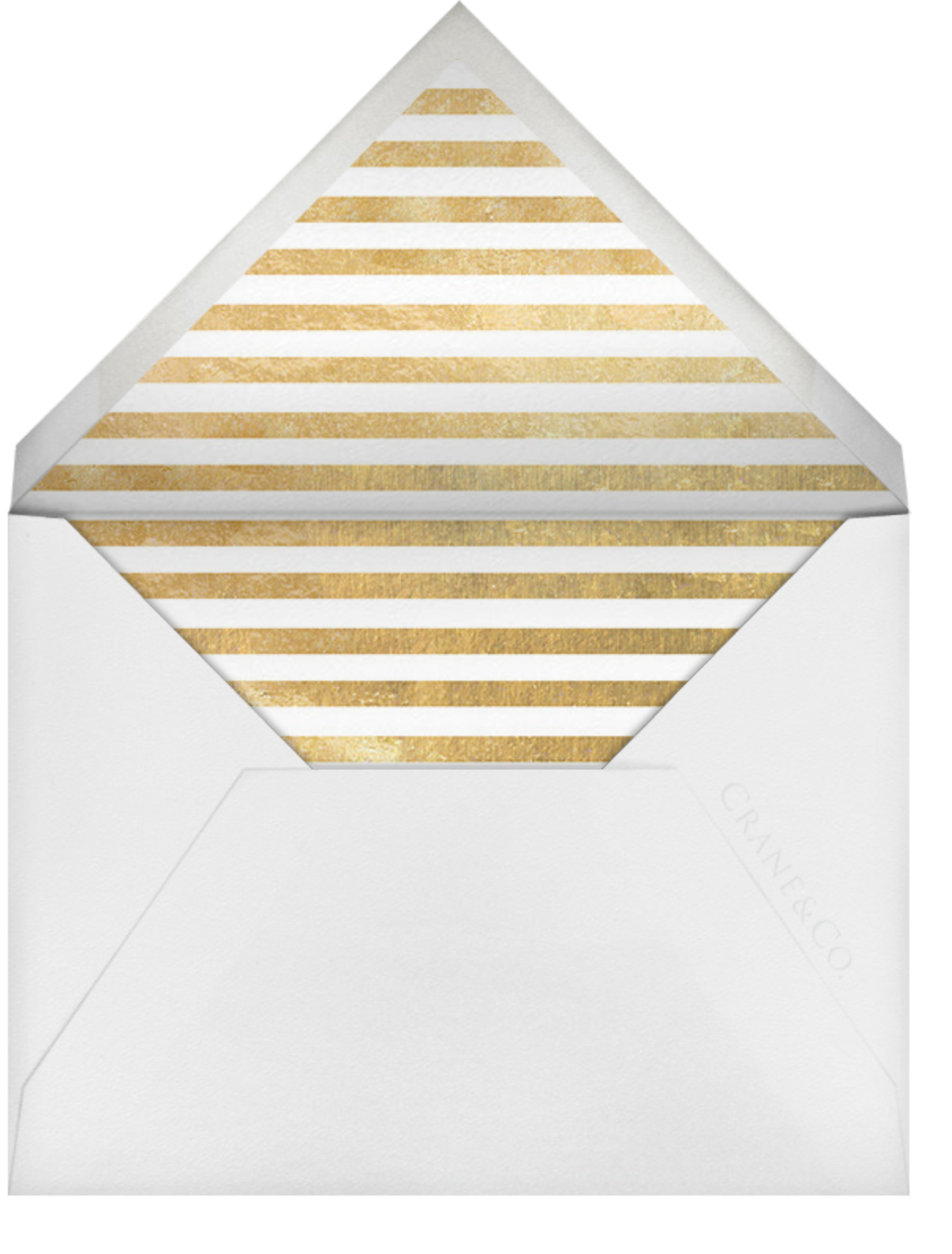 Escalier (Greeting) - Ivory and Gold - Paperless Post - Use your own logo - envelope back