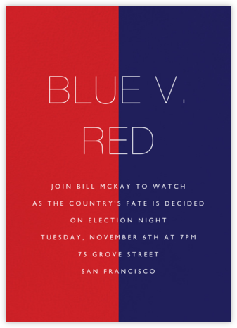 Color Wars - Paperless Post - Election Night invitations