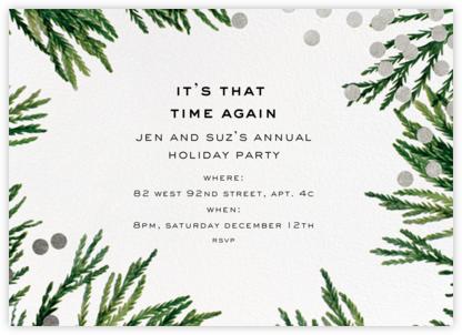 Confetti Branches - Silver - kate spade new york - Holiday invitations