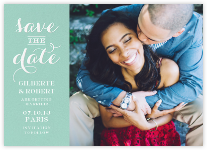Photo Flourish - Celadon - Paperless Post - Save the dates