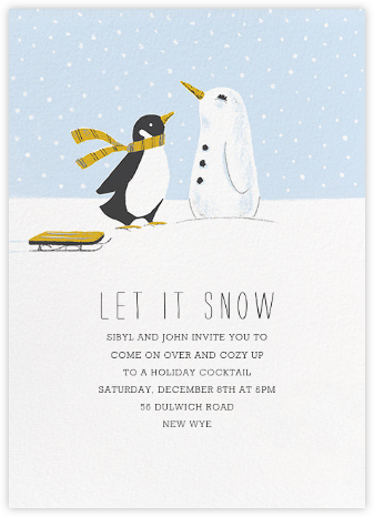 Snowbird - Paperless Post - Winter entertaining invitations