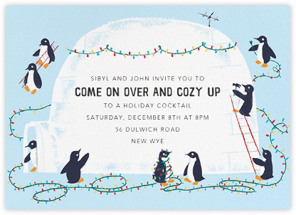 Southern Lights - Paperless Post - Winter Party Invitations