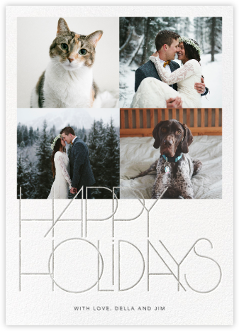 Avant-Garde Holiday (Tall Multi-Photo) - Silver - Paperless Post -