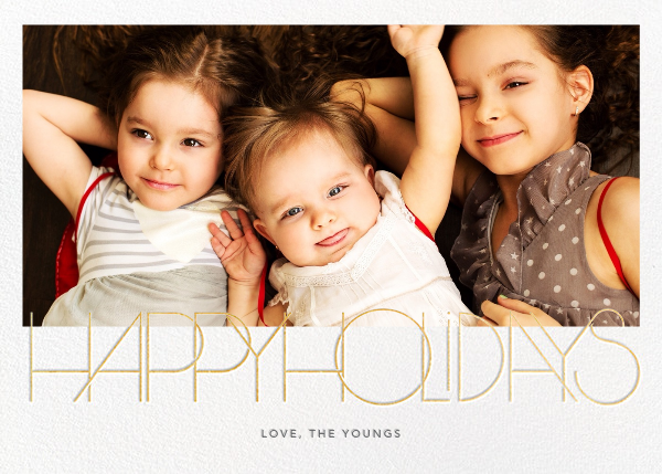 Avant-Garde Holiday (Horizontal) - Paperless Post - Holiday cards