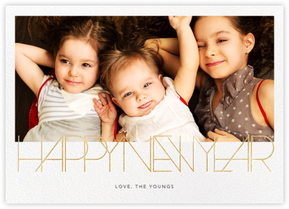 Avant-Garde New Year (Horizontal) - Paperless Post - New Year Cards