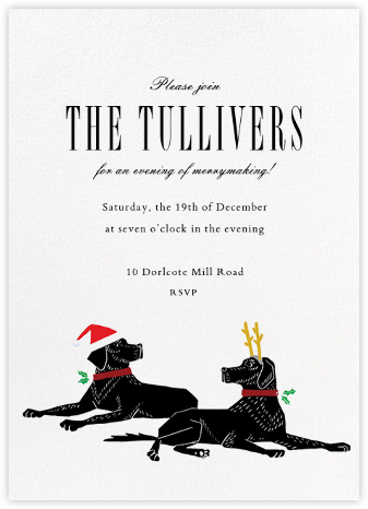 Christmas Labrador - Paperless Post - Christmas Party Invitations