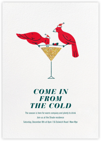 Birdbath Buzz - Paperless Post - Holiday invitations