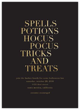 Hocus Pocus - Gold - Sugar Paper -