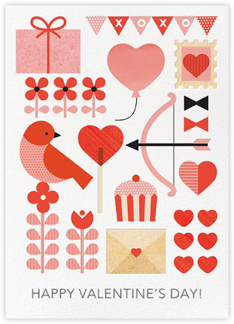 Valentine Parade - Petit Collage - Online greeting cards