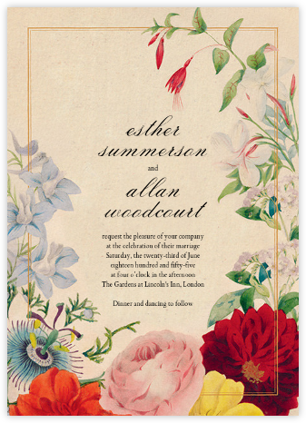 Spring Medley (Invitation) - John Derian - Online Wedding Invitations