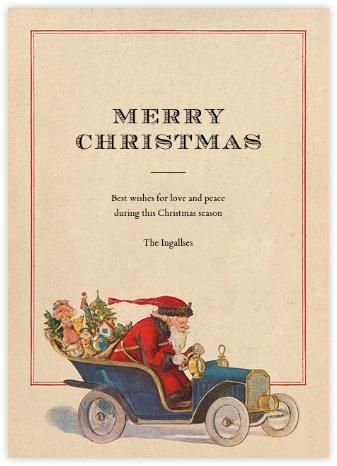 Speeding Santa - John Derian - Holiday cards