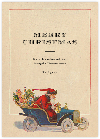 Speeding Santa - John Derian -