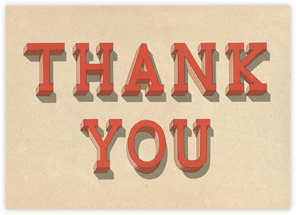 Serif Shadows - John Derian - Online Thank You Cards