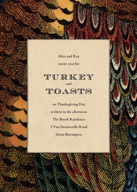 Pheasant Plumage - John Derian - Thanksgiving invitations