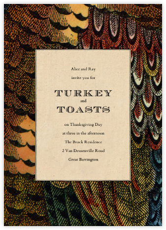 Pheasant Plumage - John Derian - Autumn entertaining invitations