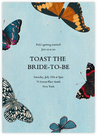 Lepidoptera (Invitation) - John Derian - Bridal shower invitations
