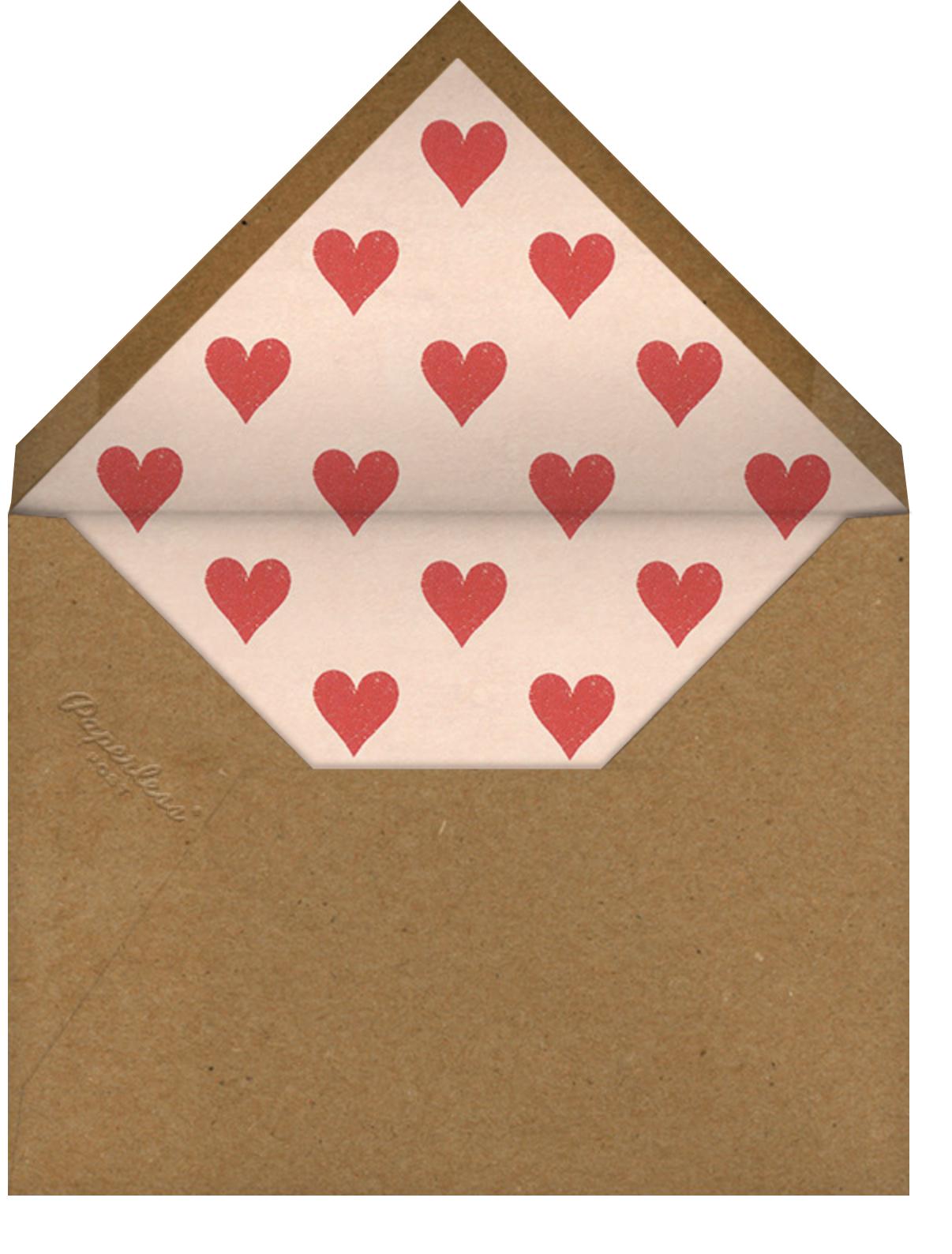 Engaged Hearts (Photo) - John Derian - Engagement party - envelope back