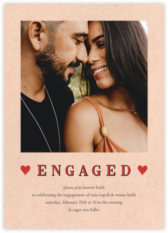 Engaged Hearts (Photo) - John Derian - Engagement party invitations
