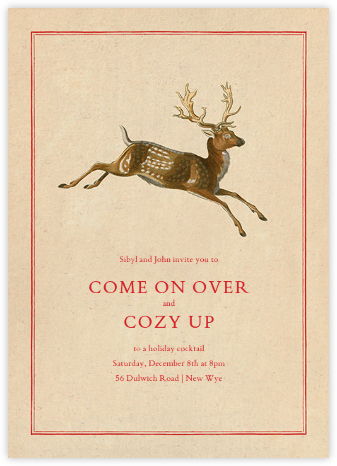 Deer's Leap - John Derian - Winter Party Invitations
