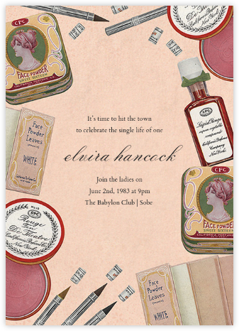 Classic Cosmetics - John Derian - Bachelorette party invitations