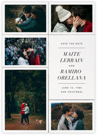 Quint - White/Silver - Paperless Post - Save the dates