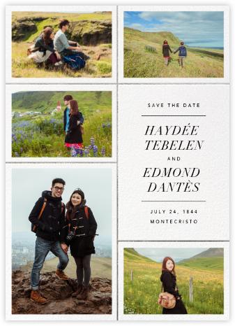 Quint - White/Silver - Paperless Post - Photo save the dates