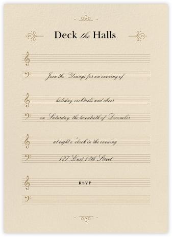 Sheet Music - Paperless Post -