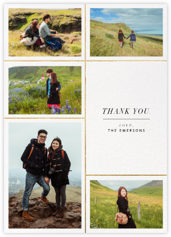 Quint - White/Gold - Paperless Post - Wedding thank you cards