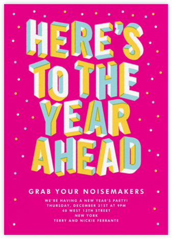 Banner Year - Paperless Post - New Year's Eve Invitations