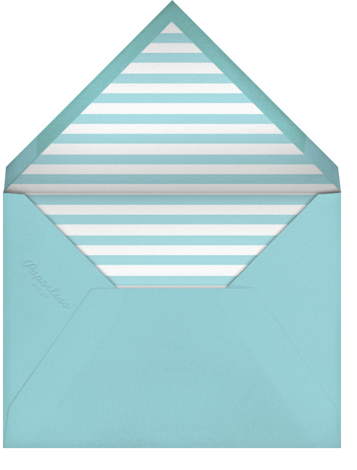 Quint - Caribbean/Rose Gold - Paperless Post - Kids' birthday - envelope back