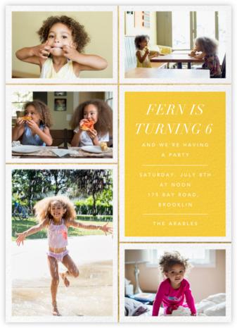 Quint - Citrus/Gold - Paperless Post - Online Kids' Birthday Invitations
