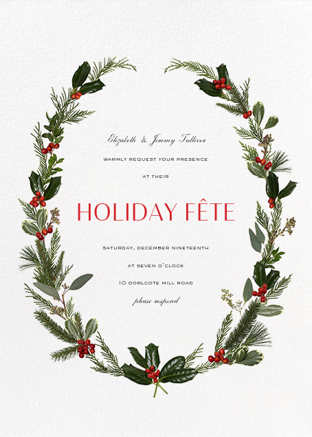 Fleurs de Noel - Paperless Post - Holiday party invitations