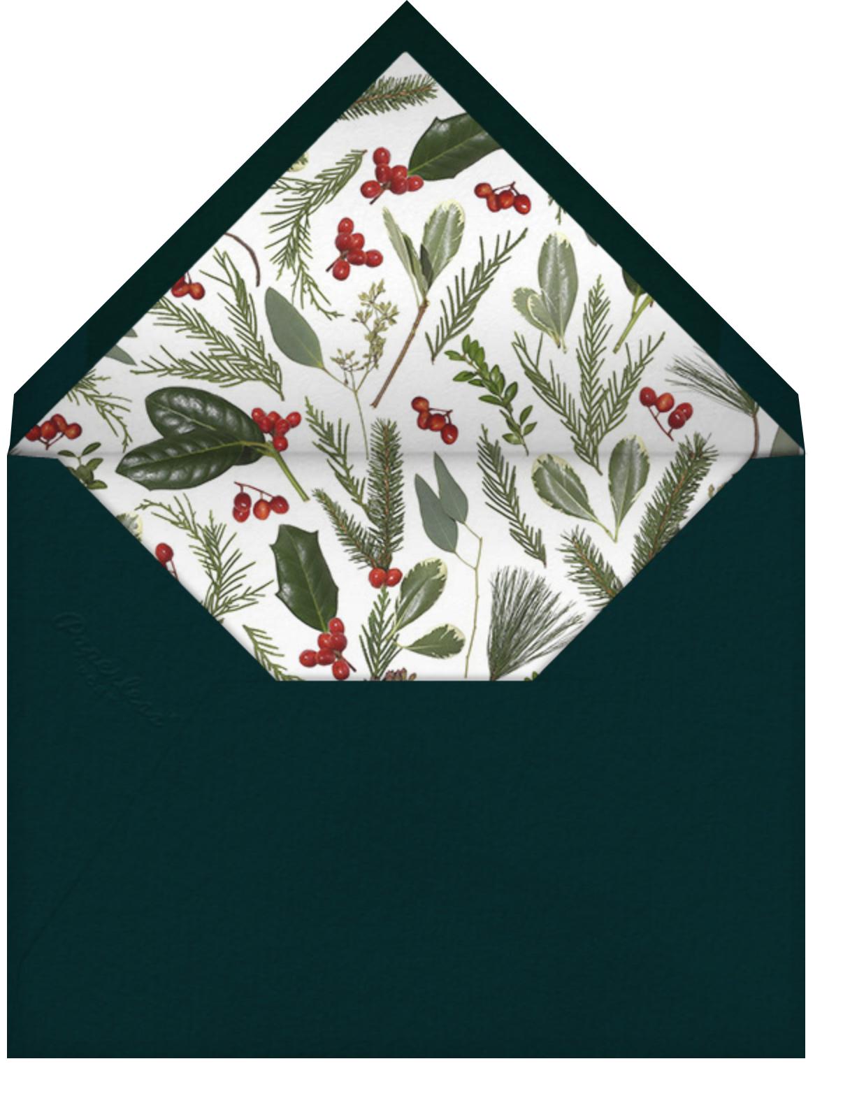 Fleurs de Noel - Paperless Post - Winter entertaining - envelope back