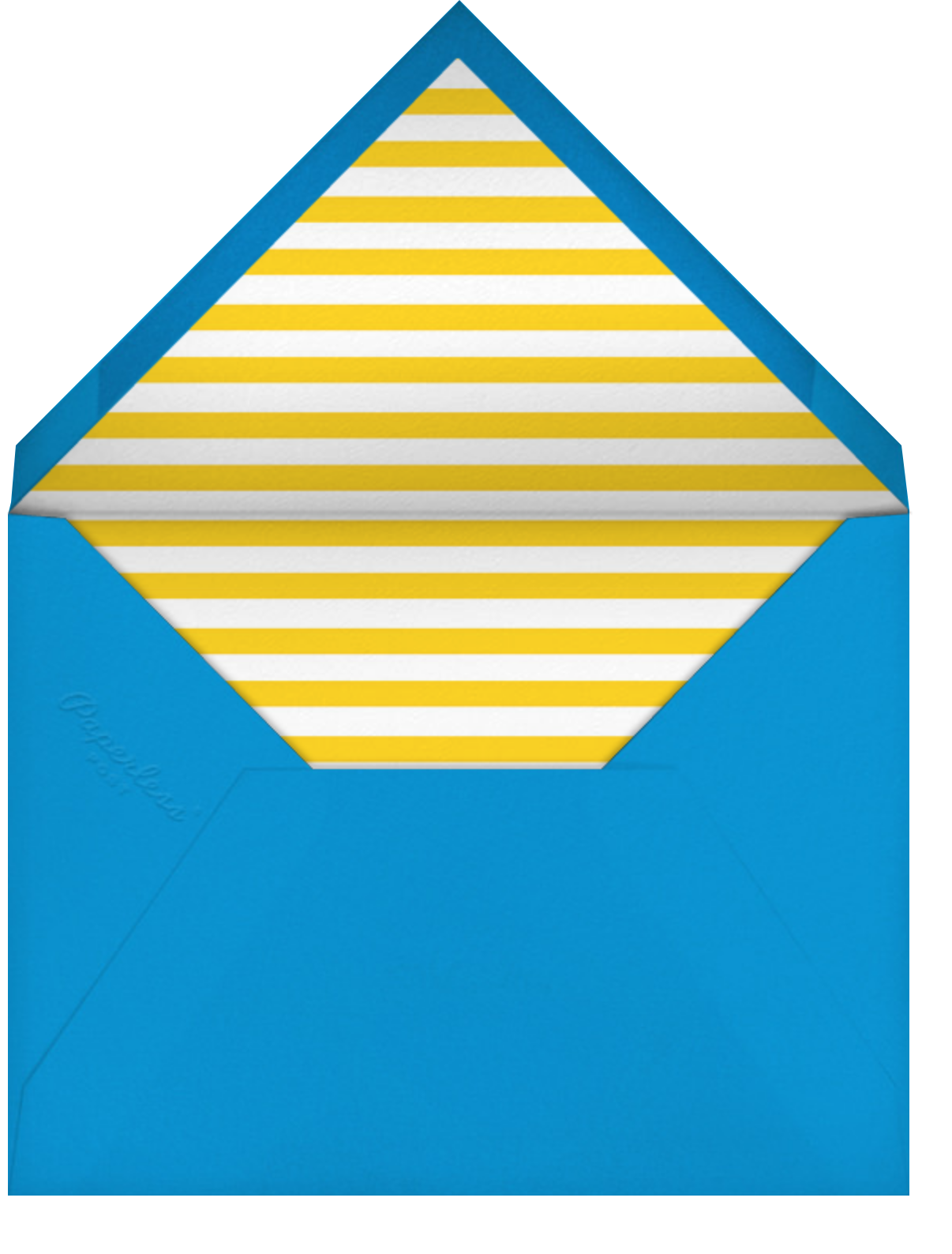 Quint - Citrus/Silver - Paperless Post - Kids' birthday - envelope back