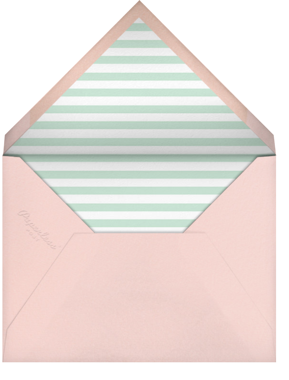 Quint - Mint/Rose Gold - Paperless Post - Kids' birthday - envelope back