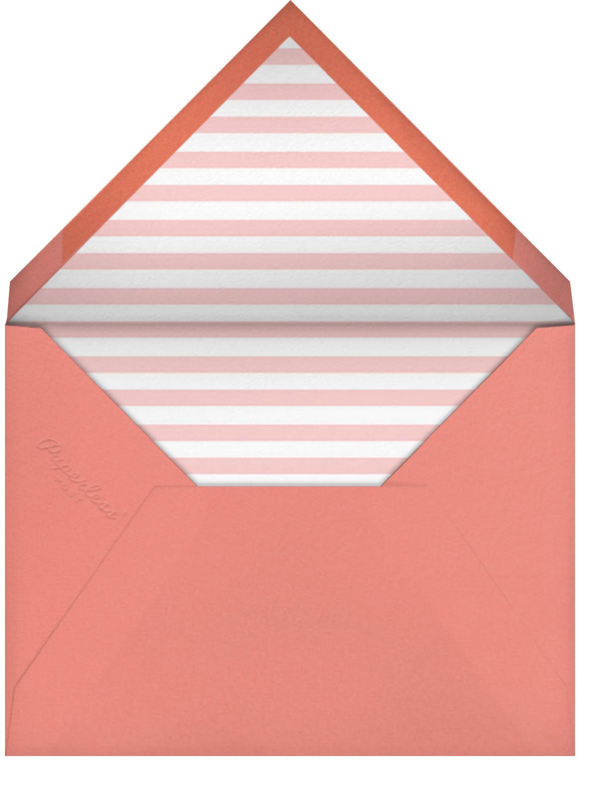 Quint - Papaya/Rose Gold - Paperless Post - Kids' birthday - envelope back