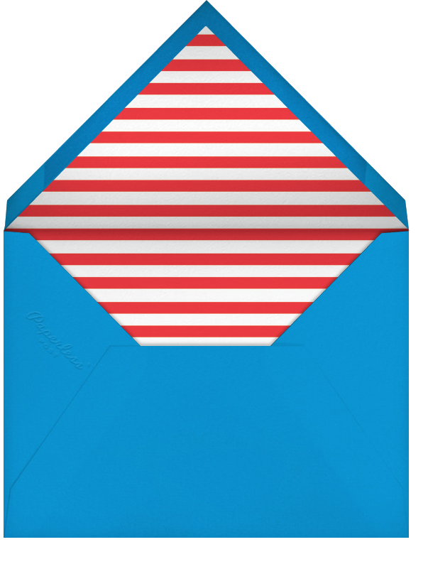 Quint - Red/Silver - Paperless Post - Kids' birthday - envelope back