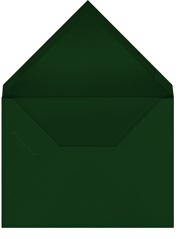 Quint - Hunter Green/Gold - Paperless Post - Holiday cards - envelope back