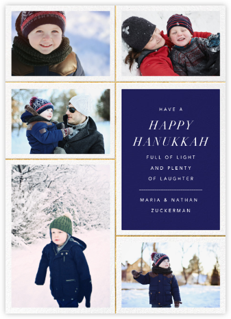 Quint - Royal Blue/Gold - Paperless Post - Hanukkah cards