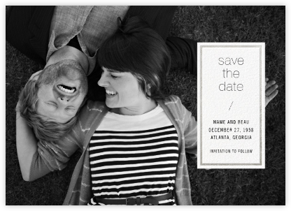 Solidus (Save the Date) - White/Silver - Paperless Post - Save the dates