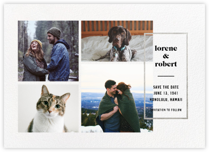 Macron (Save the Date) - Silver - Paperless Post - Save the dates
