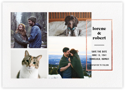 Macron (Save the Date) - Rose Gold - Paperless Post - Save the dates